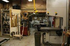 Sam Maloof's wood shop.