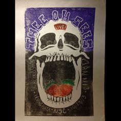 Thee Oh Sees Gig Poster by DanCurranPrintShop on Etsy, $20.00