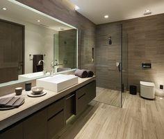 [ Luxurious Modern Bathroom Interior Design Ideas Bathroom Design Ideas Small Bathrooms Small Bathroom Design ] - Best Free Home Design Idea & Inspiration Wood Bathroom, Bathroom Flooring, Master Bathroom, Bathroom Ideas, Bathroom Vanities, Bathroom Cabinets, Bathroom Trends, Shower Ideas, Bathroom Renovations
