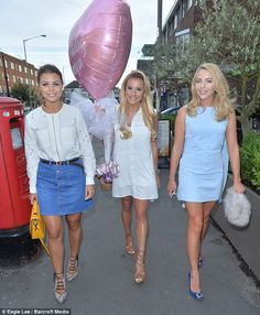 Girls only! Georgia Kousoulou, who turns 24 on Saturday, was treated to a lavish meal at London's Olive Tree Bar where she was joined by close pals Chloe Lewis and Lydia Bright Friday Fashion Quotes, White Sleeveless Dress, White Dress, Chloe Lewis, Celebs, Celebrities, Girls Night Out, Big And Beautiful, Birthday Celebrations