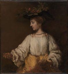 REMBRANDT 1606\69 Flora 1654 ca Metropolitan Museum of #art #NewYork