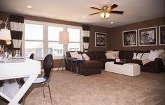 Crestwood bonus room.... love the dark paint for a tv lounge