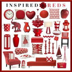 Inspired Reds by aprimmdesign on Polyvore featuring polyvore, interior, interiors, interior design, home, home decor, interior decorating, Majestic Home Goods, Pier 1 Imports, Marimekko, LSA International, Carlo Moretti, Jonathan Adler, Eichholtz, bai, Dolce&Gabbana, WallPops, Dot & Bo, Emissary, Pottery Barn, Ethan Allen, Zanotta, Converse, Michael Kors and Design Within Reach