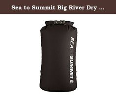 Sea to Summit Big River Dry Bag 20L Black. : Super strong and abrasion resistant, this non-PVC mid-weight dry bag has space saving low profile Hypalon® lash loops on the sides for secure stacking and a roll-resistant oval shape. A great choice for rugged water sports like kayaking, canoeing and rafting. Suitable to keep contents dry in any wet situation where the bag is not submerged. Sea to Summit Big River Dry Bags are constructed with 420D TPU laminated nylon fabric with 10,000 mm...