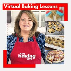 "Join Jill and learn the love of baking. Every Tuesday & Thursday at 10 am PST on Facebook page ""Kids Baking"""