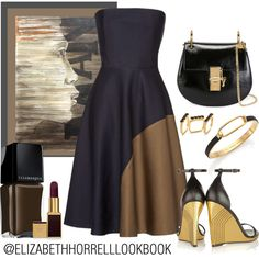 LIZ by elizabethhorrell on Polyvore featuring Martin Grant, Yves Saint Laurent, Chloé, Marc by Marc Jacobs, Joomi Lim, Tom Ford, Illamasqua and NOVICA