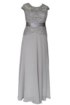 Ellames Long Evening Gowns Plus Size Mother Of The Bride Dresses Silver US 12 Ellames http://www.amazon.com/dp/B00UFWVDJ0/ref=cm_sw_r_pi_dp_9pmFvb1N9CTJR