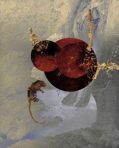 #art #artcontemporain #contemporaryart #galeriedart #artgallery #oeuvre  #expression #contemporain #artist  #KAZOART #abstrait #collage #rouge #or