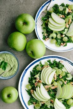 Very Green Apple Salad with Creamy walnut & parsley dressing - The Barefoot Housewife