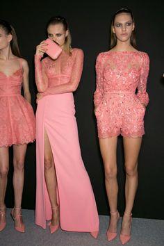 Fashion throwback: powerful pink looks, behind the scenes at Elie Saab.