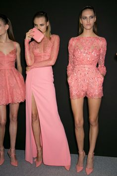 Fashion throwback: powerful pink looks, behind the scenes at Elie Saab.