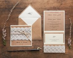 Lace Wedding Invitations, Craft Wedding Invitations Lace