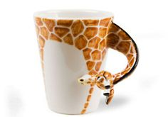 Giraffe mug. Omg i totally need this is to drink out of everyday!