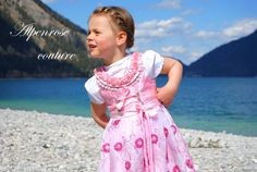 """Haute Couture Dirndl """"PEARL LITTLE ROSE"""" von krabbelkee collection by Feenland auf DaWanda.com"""