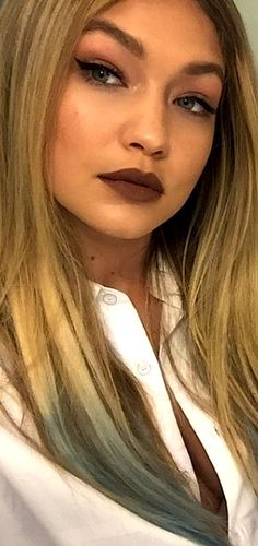 After scrolling through our Instagram feed, we discovered that a few of our most coveted beauty icons (think Beyoncé and Gigi Hadid) are making a case for brown lipstick–you know, the makeup-bag staple of the '90s | cynthia reccord