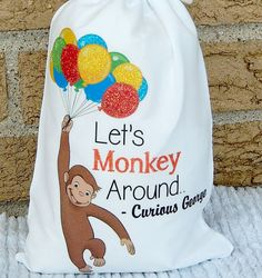 Hey, I found this really awesome Etsy listing at https://www.etsy.com/listing/245452494/curious-george-favor-bags-all-occasion