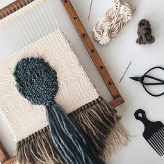On the loom by @holamariabonita #weaving #weavingloom