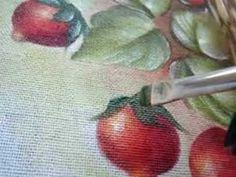 Pintura em tecido Eliane Nascimento: Sépala do morango - YouTube