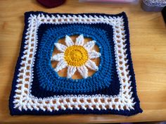 "Blooming Lace 12"" Square Motif By Melinda Miller - Free Crochet Pattern - (ravelry)"