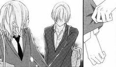 Image via We Heart It https://weheartit.com/entry/145435872/via/30390443 #monochrome #animecouple #randomanime