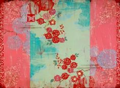 """Kathe Fraga paintings, inspired by vintage Paris and Chinoiserie ancienne on frescoed panel. """"Song of Celebration"""" 36x48 www.kathefraga.com"""