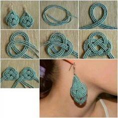 Use braided threads or mini beads