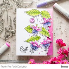 Visit the post for more. Card Making Inspiration, Making Ideas, Pretty Pink Posh, Flower Clipart, Card Tags, Scrapbook Cards, Scrapbooking, Flower Cards, Homemade Cards