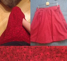 My red circle skirt with pockets