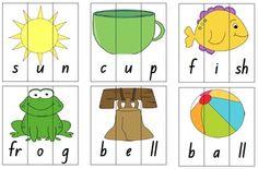 84 puzzles = 252 puzzle pieces! CVC, CVCC and CCVC Word Puzzles - Phonics Game