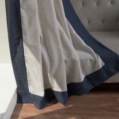 Shop for Aurora Home Colorblock Border Linen Blend Curtain Panel Pair - 52 x Get free delivery On EVERYTHING* Overstock - Your Online Home Decor Outlet Store! Home Curtains, Panel Curtains, Home Decor Outlet, Color Blocking, Aurora, Living Spaces, Pairs, Blanket, Shopping
