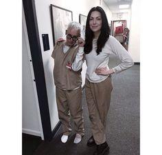 Lori Petty and Laura Prepon BTS of OITNB S4!