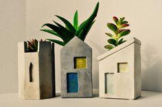 Townhouse Concrete Planters     $10 each