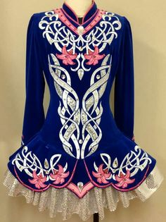 Prime Design Irish Dance Solo Dress Costume-- very unique. not sure how I like the pink, but the concept is awesome