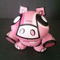 KidRobot Finders Keepers Holiday Pig Joe Ledbetter JLED 2007 Toy Vinyl 3 Inches #JoeLedbetter