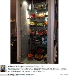 Famous fridge: The house comes with the Yolanda-designed floor-to-ceiling glass refrigerto...