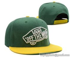 VANS Snapback Hats Green|only US$8.90,please follow me to pick up couopons.