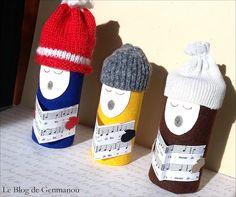 Le Blog de GENMANOU: Petits chanteurs de Noël (et TUTO)