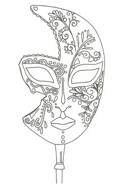 "iColor ""I Love Coloring II A&E"" ~ masque de Venise Make your world more colorful with free printable coloring pages from italks. Our free coloring pages for adults and kids. Coloring Book Pages, Printable Coloring Pages, Coloring Sheets, Mask Template, Venetian Masks, Quilling Patterns, Free Coloring, Kids Coloring, Colorful Pictures"