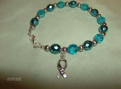 I Support Ovarian and  Cervical Cancer by OneOfAKindJwlry on Etsy, $20.00