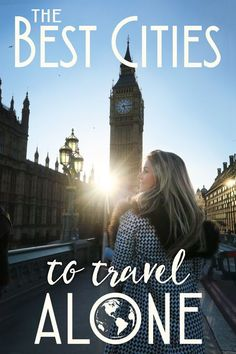 The Best Cities to Travel Alone (The Blonde Abroad) Ready to see the world? Do it on your own time line! For the ultimate in indulgent travel, take a solo adventure. There are few things as liberating and exciting as traveling alone. See exactly what y Solo Travel Tips, Travel Goals, Travel Hacks, Budget Travel, Best Solo Travel Destinations, Solo Travel Europe, Europe Budget, Travel Rewards, Travel Checklist