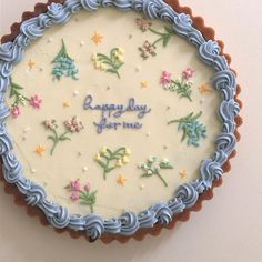 A sweetly positive cake Sweet Cakes, Cute Cakes, Pretty Cakes, Yummy Cakes, Cute Desserts, Dessert Recipes, Korean Cake, Think Food, Cafe Food