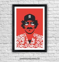 Poster Magnum P.I. Minimalista Red
