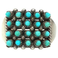 Check out this item at One Kings Lane! Zuni Snake Eyes Ring, C.1970
