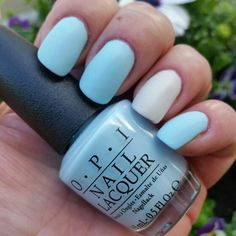 "OPI - Soft Shades pastell 2016 ""It's a Boy!"" & ""It's in the Cloud"" Med Matte Top coat! :)"