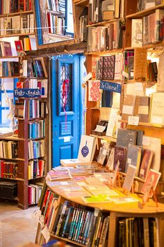 As both a avid reader and devoted bibliophile, Atlantis Books had popped up on my radar on more than a few occasions before our honeymoon to Greece. I love bookshops, so a bookshop in paradise was … Santorini Island, Santorini Greece, The Places Youll Go, Places To Go, Greece Travel, Greece Trip, Book Cafe, Greek Isles, Dream Library