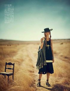 """""""The Coming of the Wind Talkers"""" Ondria Hardin by Boo George for Vogue Japan May 2014"""