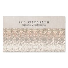 Modern and Hip Sparkly Sequins Look Beauty Business Cards