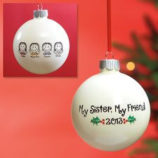 Sisters Ornaments