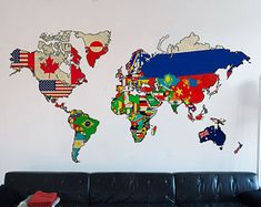 Adventure is Out There World Map Decal Large by homeartstickers