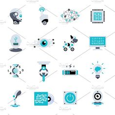 Artificial Intelligence Icon Set  @creativework247
